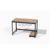 桌+主機架+一寬一深桿