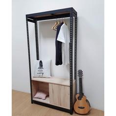 角鋼衣櫃+滑門底櫃
