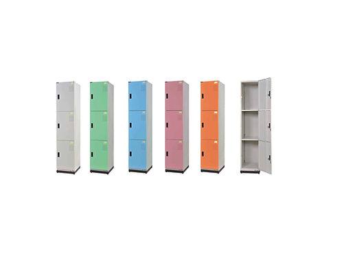 全鋼門片-三格鑰匙置物櫃(高)W39.3D35H185.2cm