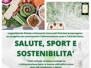 Progetto Salute Sport e sostenibilità in collaborazione con Farmacie Comunali Pistoiesi
