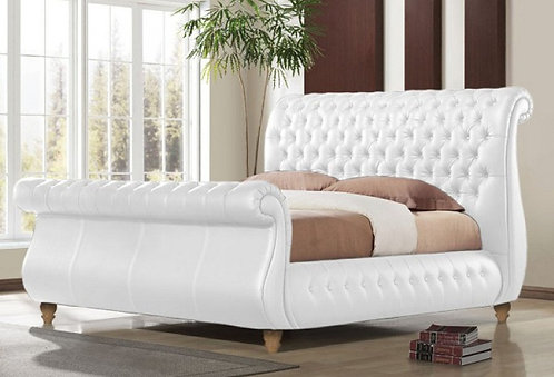 SWAN REAL LEATHER BED