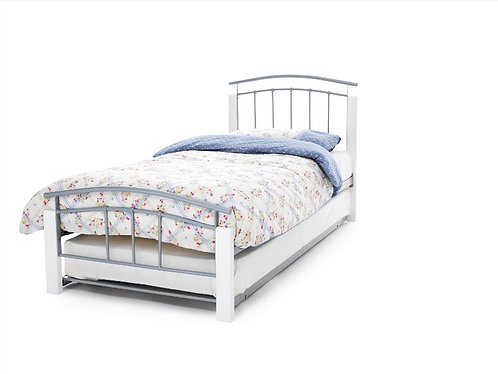 Serene Tetras Guest Bed - White/Silver