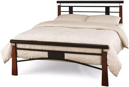 Serene Armstrong Oak and Black Bed Frame