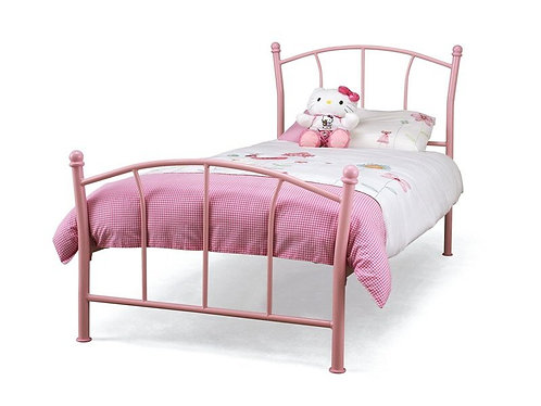 Serene Penny Bed Frame - Pink