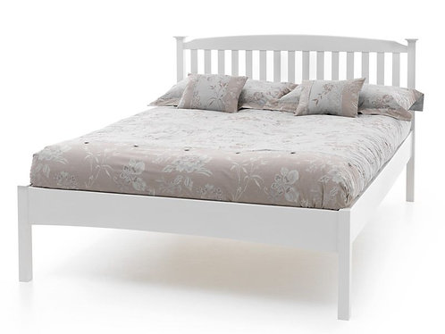 Serene Eleanor Bed Frame - Opal White Low Foot End
