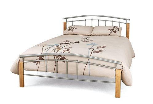 Serene Tetras Bed Frame - Beech/Silver