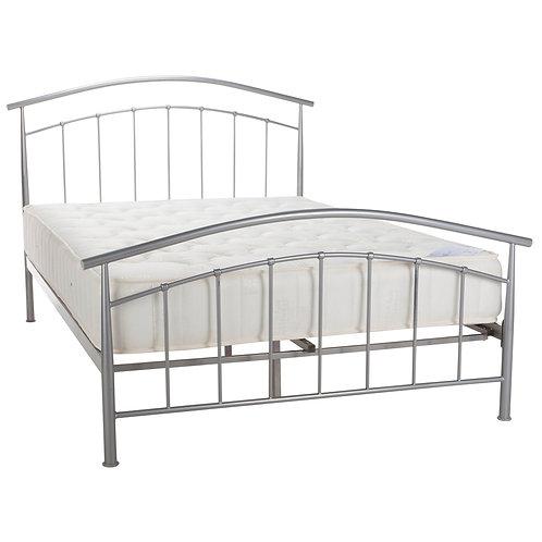 Serene Mercury Silver Bed Frame - Silver