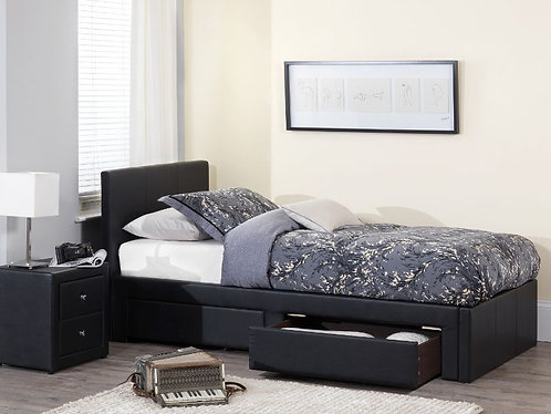 Serene Latino Bed Frame - Black