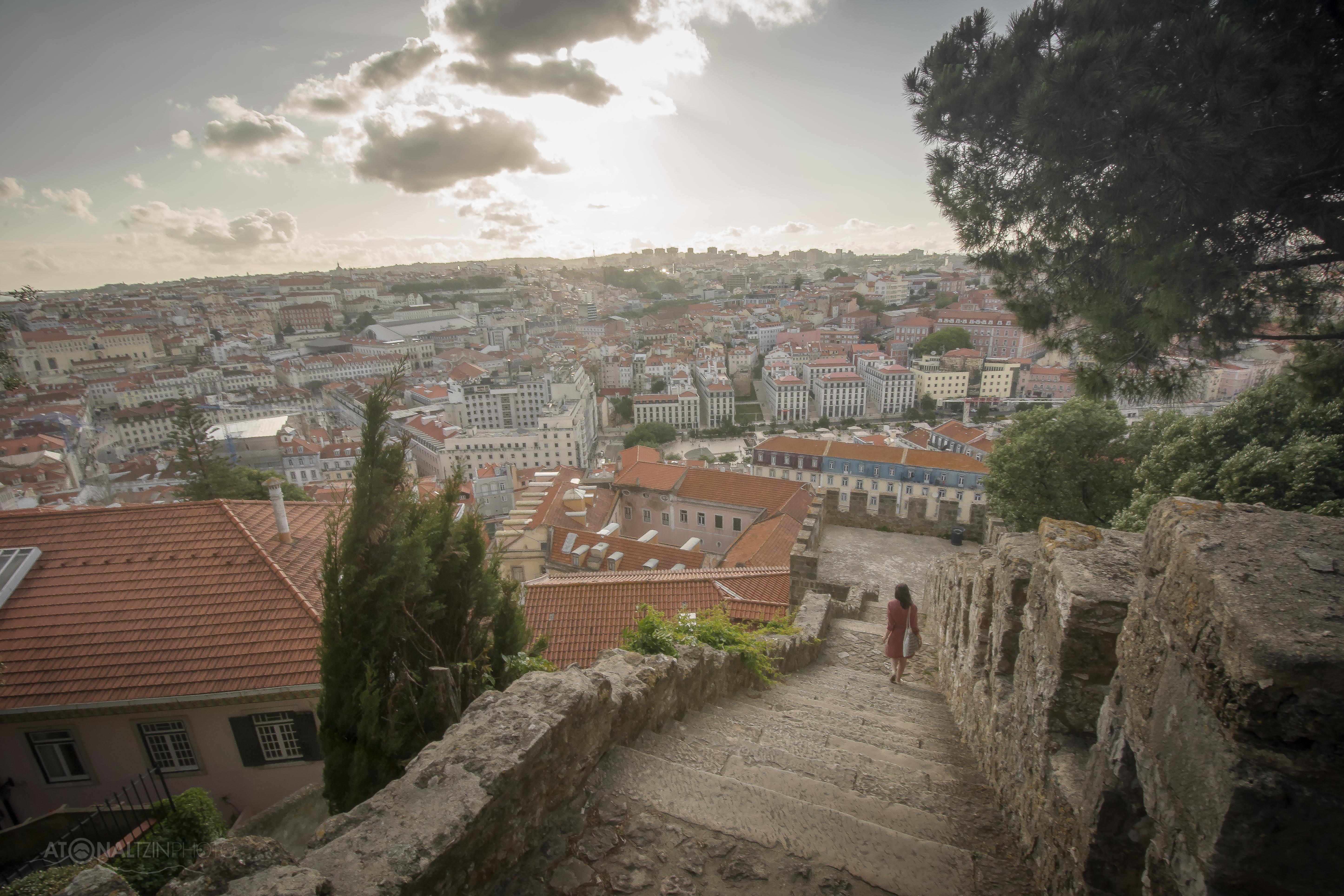 Escaleras del Castillo de San Jorge