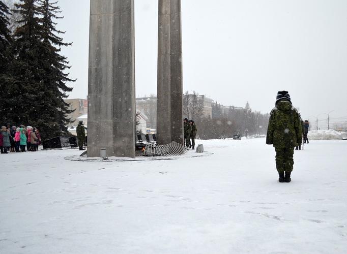 Ночные Волки Тула. Дети Донбаса. Смена почетного караула