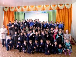 Ночные Волки Тула в Киреевской школе интернате.