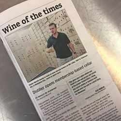 Distiller opens wine cellar
