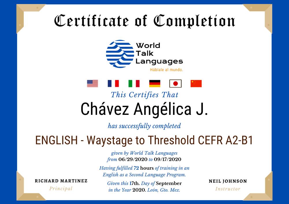 escuela de ingles con certificacion