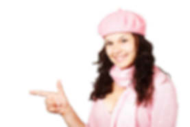 Chica indicando banner WT