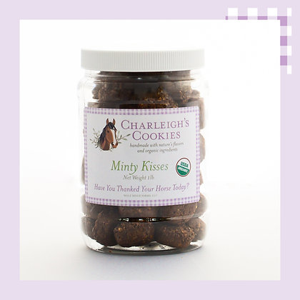 Minty Kisses 1lb Jar- Charleigh's Cookies