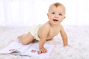 Baby with board book