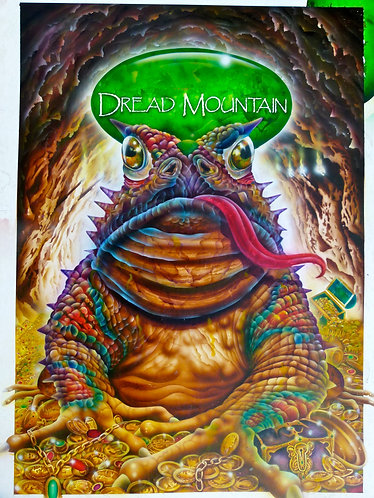 Dread Mountain. Original painting from Deltora Quest series 1. 100 x 75cm