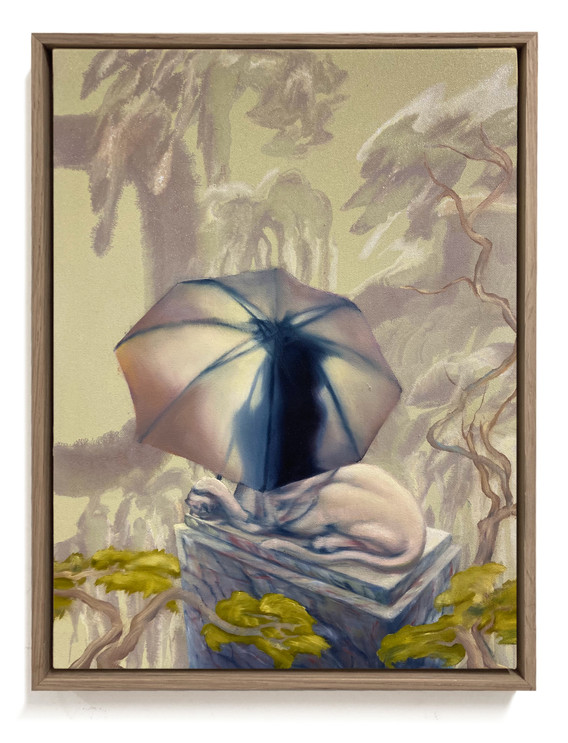 SPHINX´  41  x 31 cm, oil and metalpigment on canvas. 2021