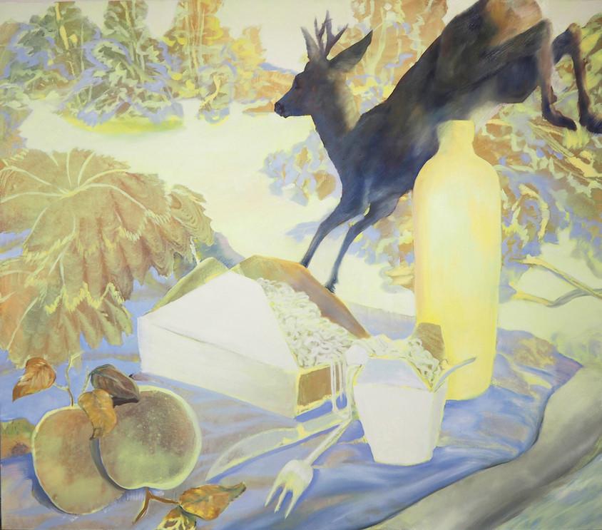PICNIC´  150 x 170 cm, oil on canvas. 2020