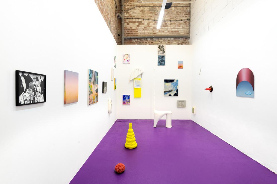 APPENDIX groupshow, Exhibitionview at Galerie SheBAM!, Spinnerei Leipzig.