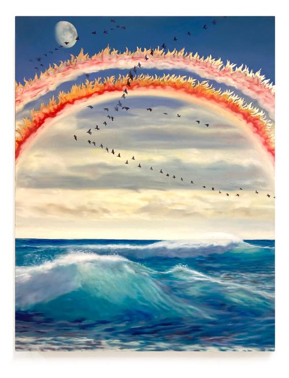 ABENDVORSTELLUNG´ 80 x 60 cm, oil on canvas. 2021