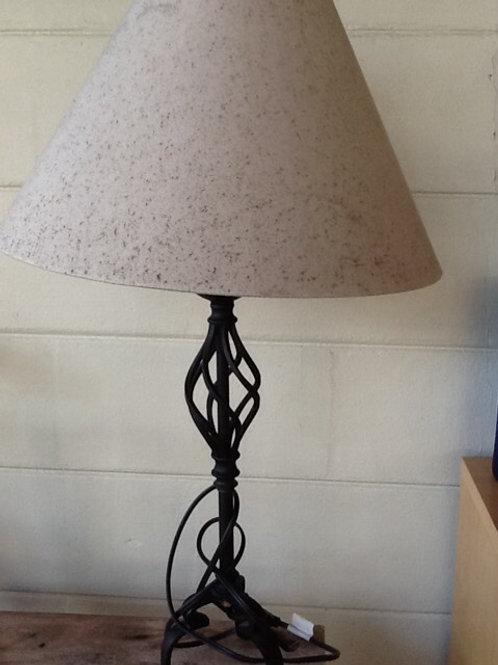 Steel Lamp with Beige Headrest Set
