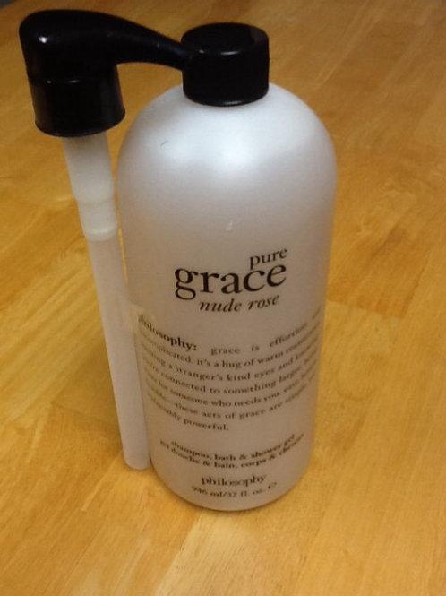"Philosophy Pure Grace ""Nude Rose"" shampoo, bath and shower gel"