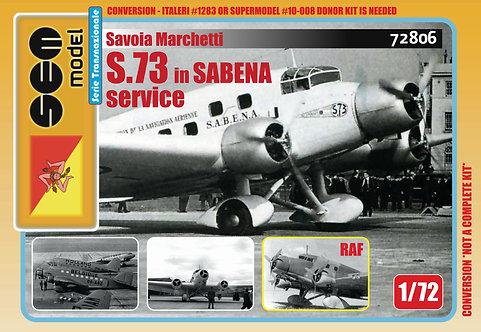 Savoia Marchetti S.73 in SABENA service