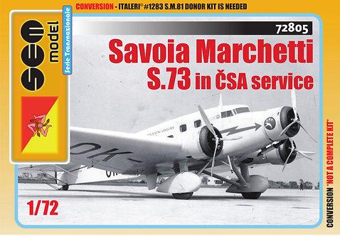 Savoia Marchetti S.73 in ČSA service