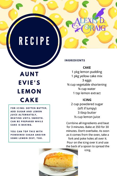 Aunt Evie's Lemon Cake