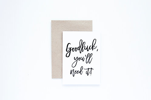 Goodluck Greeting Card