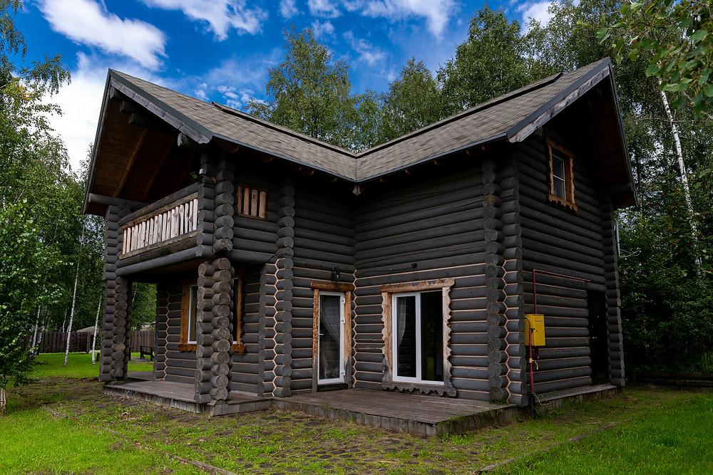 Терраса дома с 4 спальнями (Терем 2) с выходом с кухни.