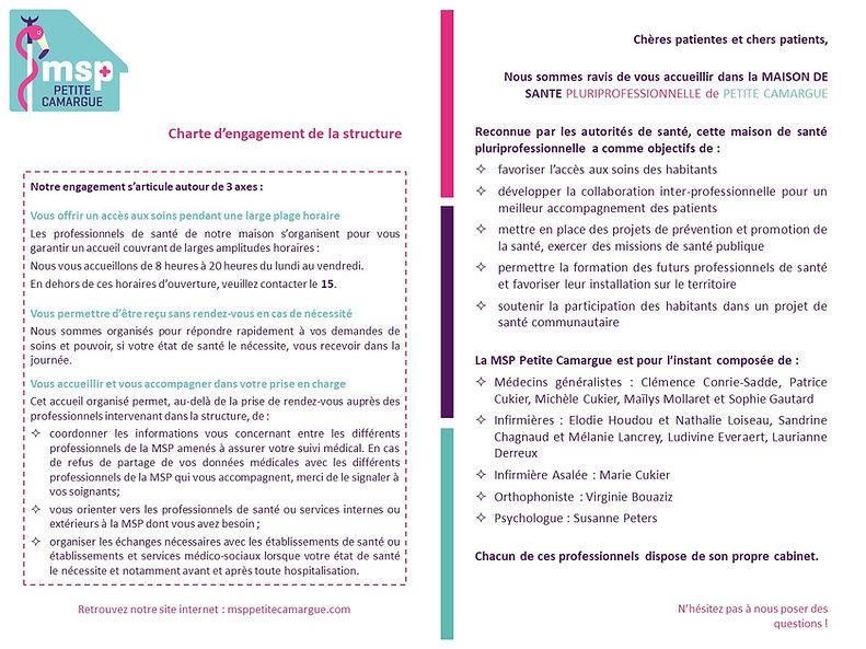 Charte patients MSP Petite Camargue