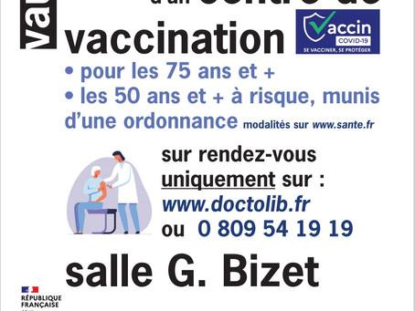 Un centre de Vaccination à Vauvert