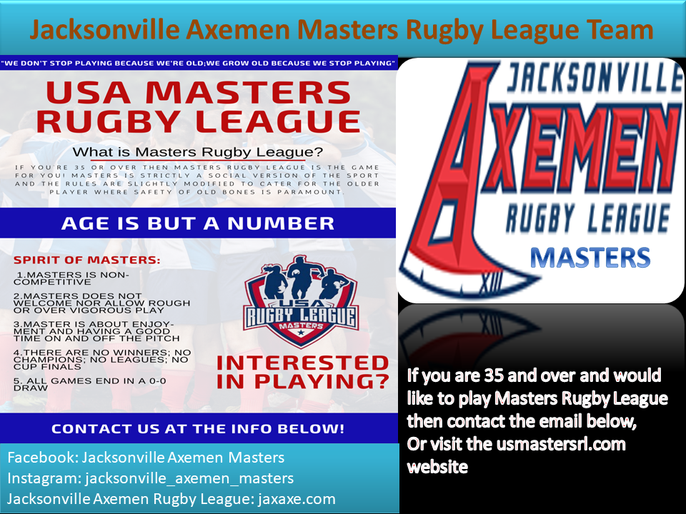 Jacksonville Axemen Masters Rugby League