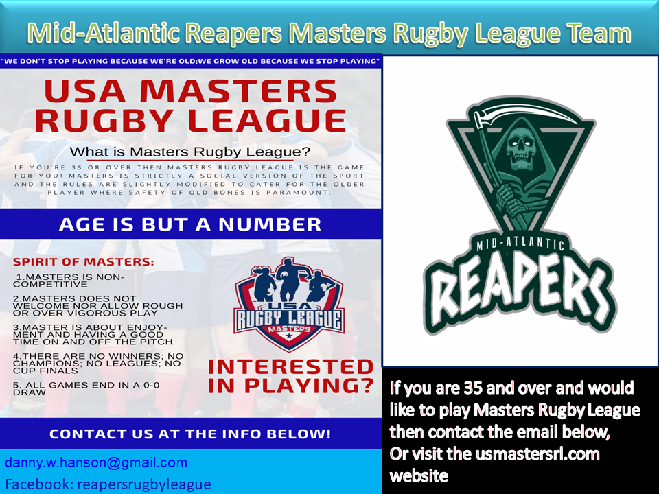 Mid-Atlantic Reapers Masters Rugby League