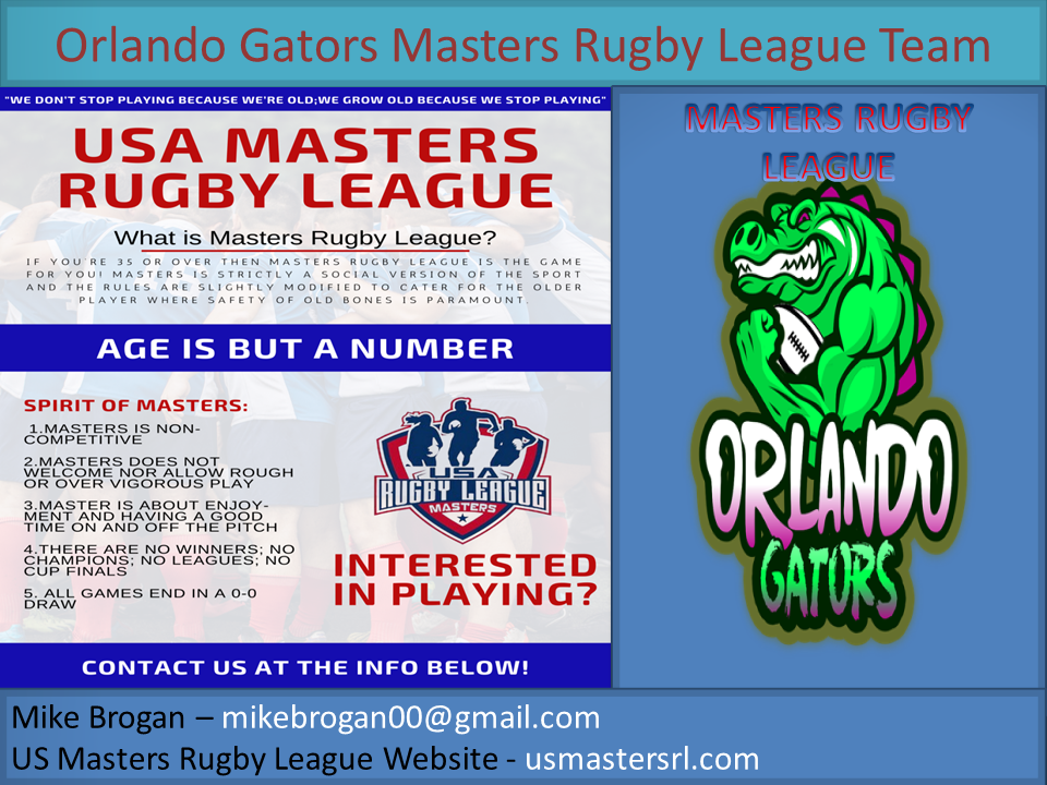 Orlando Gators Masters Rugby League