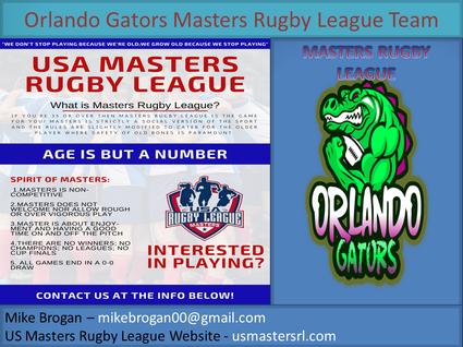 Orlando Gators Masters Rugby League