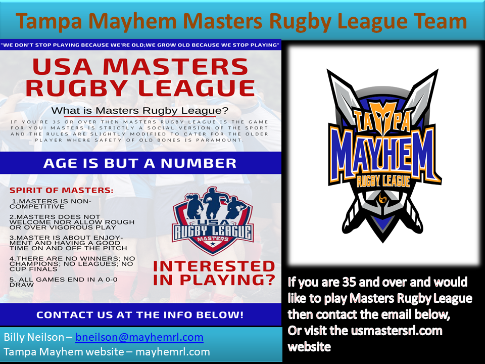 Tampa Mayhem Masters Rugby League