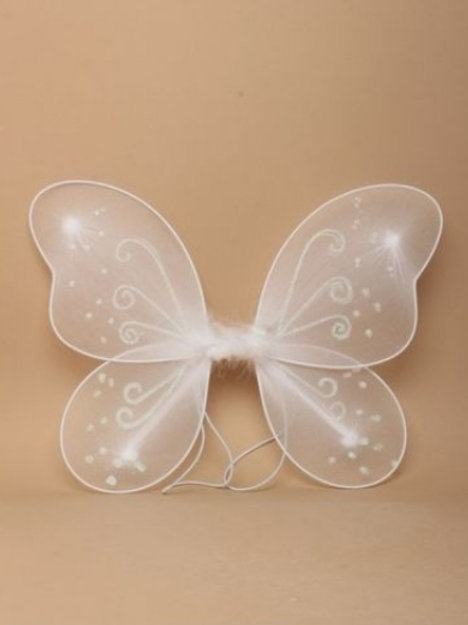 White Fairy Wings 33 x 25cm