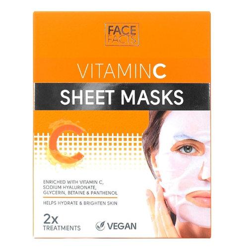 Face Facts Vitamin C Sheet Masks x2