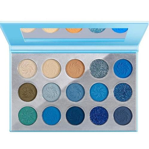 'Deep Blue Sea' 15 shade eyeshadow palette