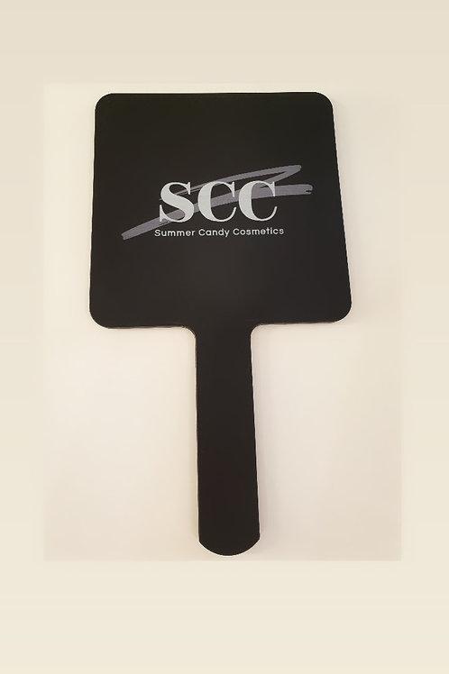 SCC 'Medium' Black hand held Mirror