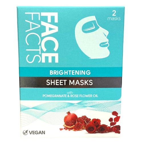 Face Facts Brightening Sheet Mask x 2