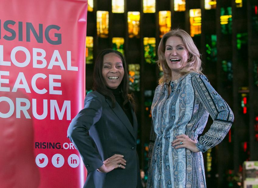 Margaret Casely-Hayford and Helle Thorning-Schmidt