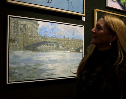 Open Waters exhibited at the National Arts Club