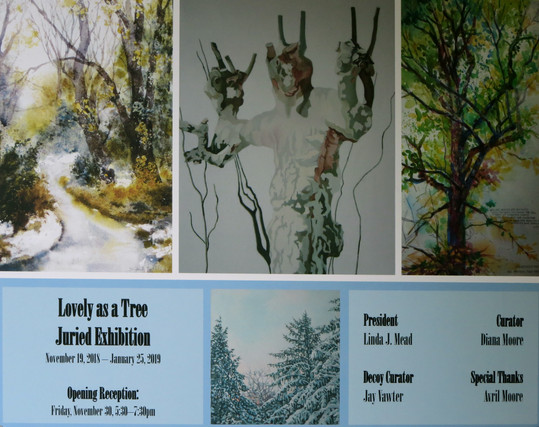 Ad for D & R Greenway Land Trust Lovely as A Tree Juried Exhibition