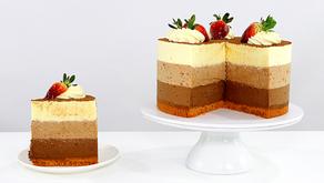 Triple Chocolate Mousse Cake - Recipe & Video