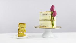 Saffron & Cardamom Cake With Roasted Almonds