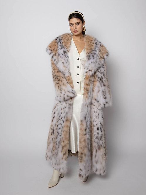 Пальто из канадской рыси